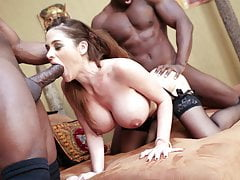 Anal Slut Cathy Heaven's Interview Turns Interracial DP