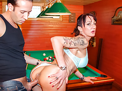 LETSDOEIT - French Milf Fucked By Gardner Cums All Over