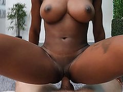 Perfect Body Black Girl Tagged Teamed By Two White Guys