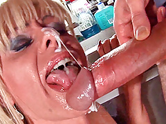 Licking and fucking a shemales asshole