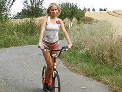Tracy -  by bike in the fields