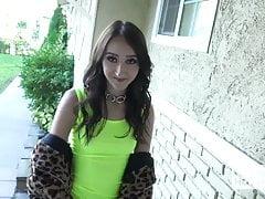 Cute tiny teen Carmen Rae gets pounded hard from hookup hots