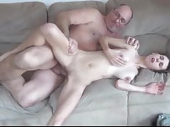 Old Man with Very Big Cock Fucks Young Busty College Bitch