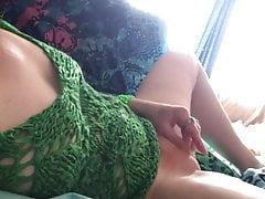 Making myself cum with dirty talk