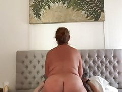 Granny fuck buddy riding my cock