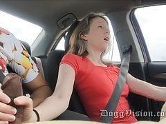 BUSTED Giving a Handjob in the Car