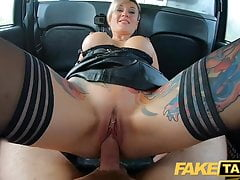 Fake Taxi Russian short haired tattooed squirting blonde Mil