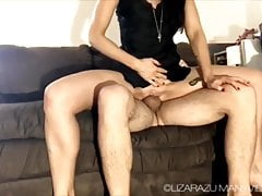 Cuckold creampie cleanup and strapon.  Cuckold life