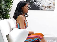 Nerdy College Girl With Exotic Look Has Sex During Audition