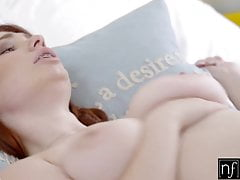 Big Titty Red Headed Teen With Braces Jerks Me Off And Fucks