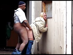 Cheap Prostitute Katie Fucked in Street