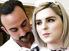 Tattooed Shemale In Maid Uniform Getting Assfucked