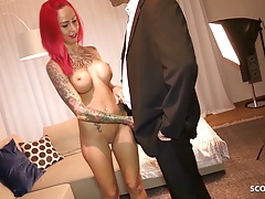 Redhead German Hooker Bareback Fuck by Rich older Client